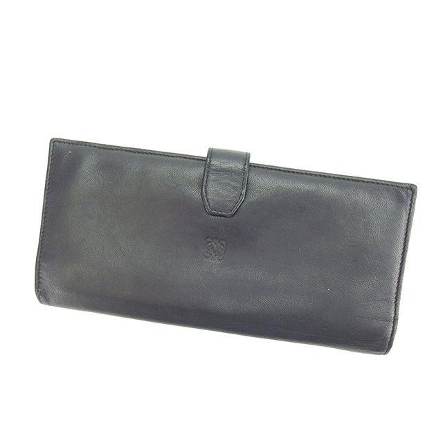 【中古】 ロエベ 長財布 ファスナー付き長財布 Loewe ブラック P219s