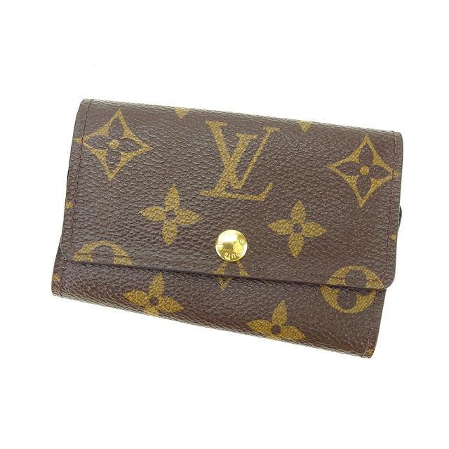 【中古】 ルイヴィトン Louis Vuitton キーケース 6連キーケース メンズ可 ミュルティクレ6 モノグラム M62630 ブラウン モノグラムキャンバス (あす楽対応)美品 即納 P414 .