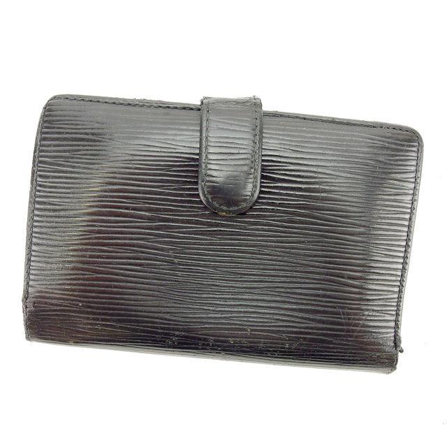 【中古】 ルイヴィトン がま口財布 二つ折り財布 Louis Vuitton ノワール(ブラック) P458s
