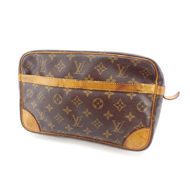 af7b417bedb3 【中古】 ルイヴィトン セカンドバッグ クラッチバッグ Louis Vuitton ブラウン Q061s .