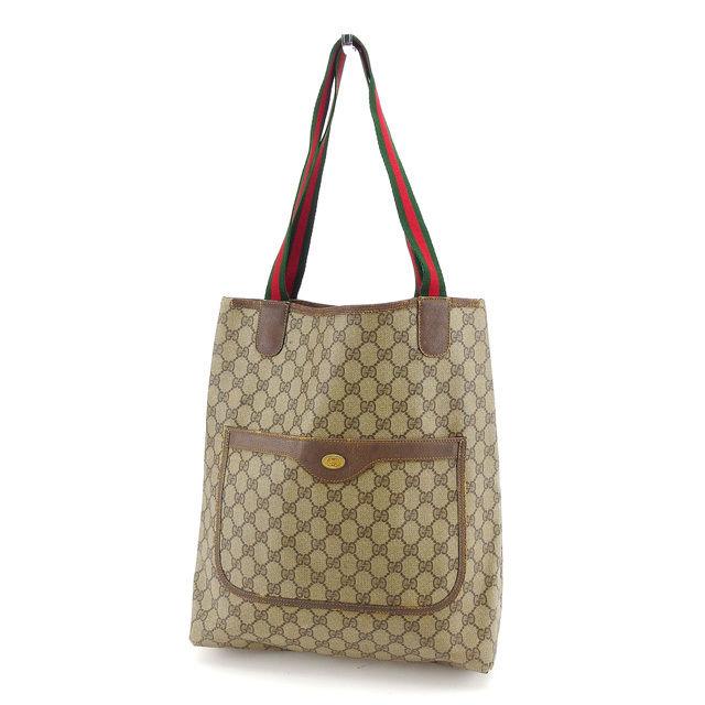3305f85d9fe9fc Gucci Gucci tote bag back shoulder bag back beige X brown X green X red  sherry ...