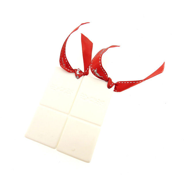 【中古】 エルメス HERMES 箸置き 2膳分 レディース ホワイト×レッド Q223