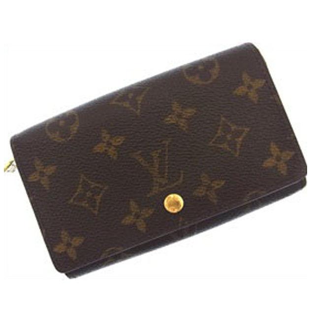 【中古】 ルイヴィトン Louis Vuitton L字ファスナー財布 二つ折り メンズ可 ポルトモネビエトレゾール モノグラム M61730 ブラウン PVC×レザー (あす楽対応)(激安・即納) R563 .