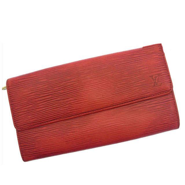 【中古】 ルイヴィトン Louis Vuitton 長財布 エピ M6359E ルージュ(赤) エピレザー (あす楽対応)(激安・即納) R822 .