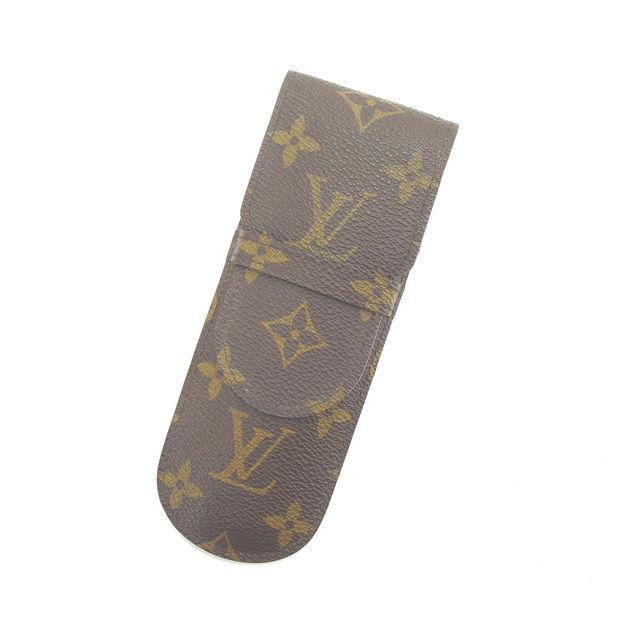 【中古】 ルイヴィトン Louis Vuitton ペンケース 小物入れ 男女兼用 エテュイスティロ モノグラム M62990 ブラウン モノグラムキャンバス (あす楽対応)激安 S136 .