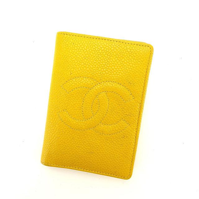 【中古】 シャネル カードケース 名刺入れ Chanel イエロー S243s .