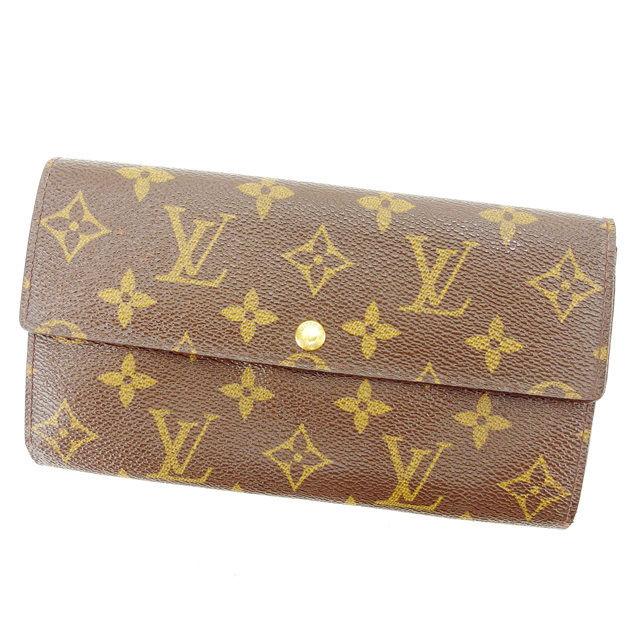 【中古】 ルイヴィトン 長財布 ファスナー付き長財布 Louis Vuitton ブラウン S392s