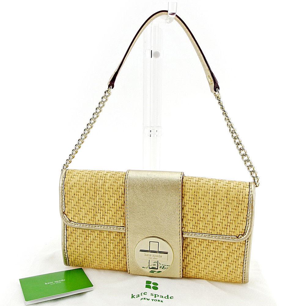 ff2f0f424 Kate spade kate spade shoulder bag chain shoulder one shoulder bag lady  beige X gold beauty product S508.