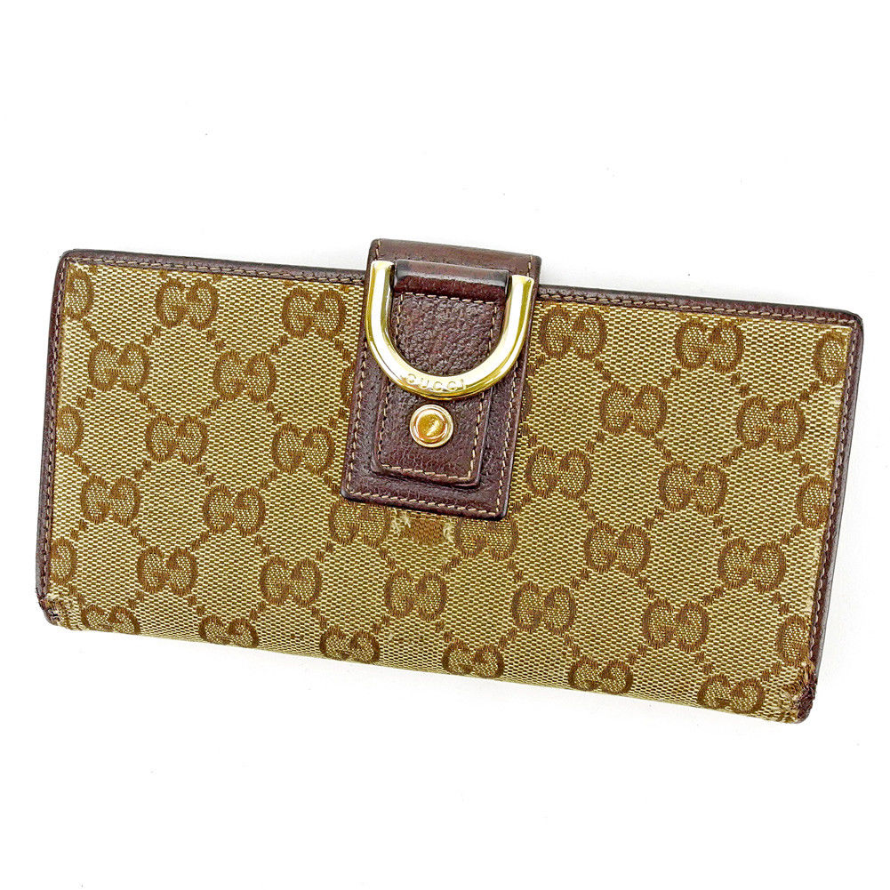 431b63cee0d Wallet Gucci beige X brown X gold S620s with the Takeru Gucci wallet  fastener. Used - Acceptable