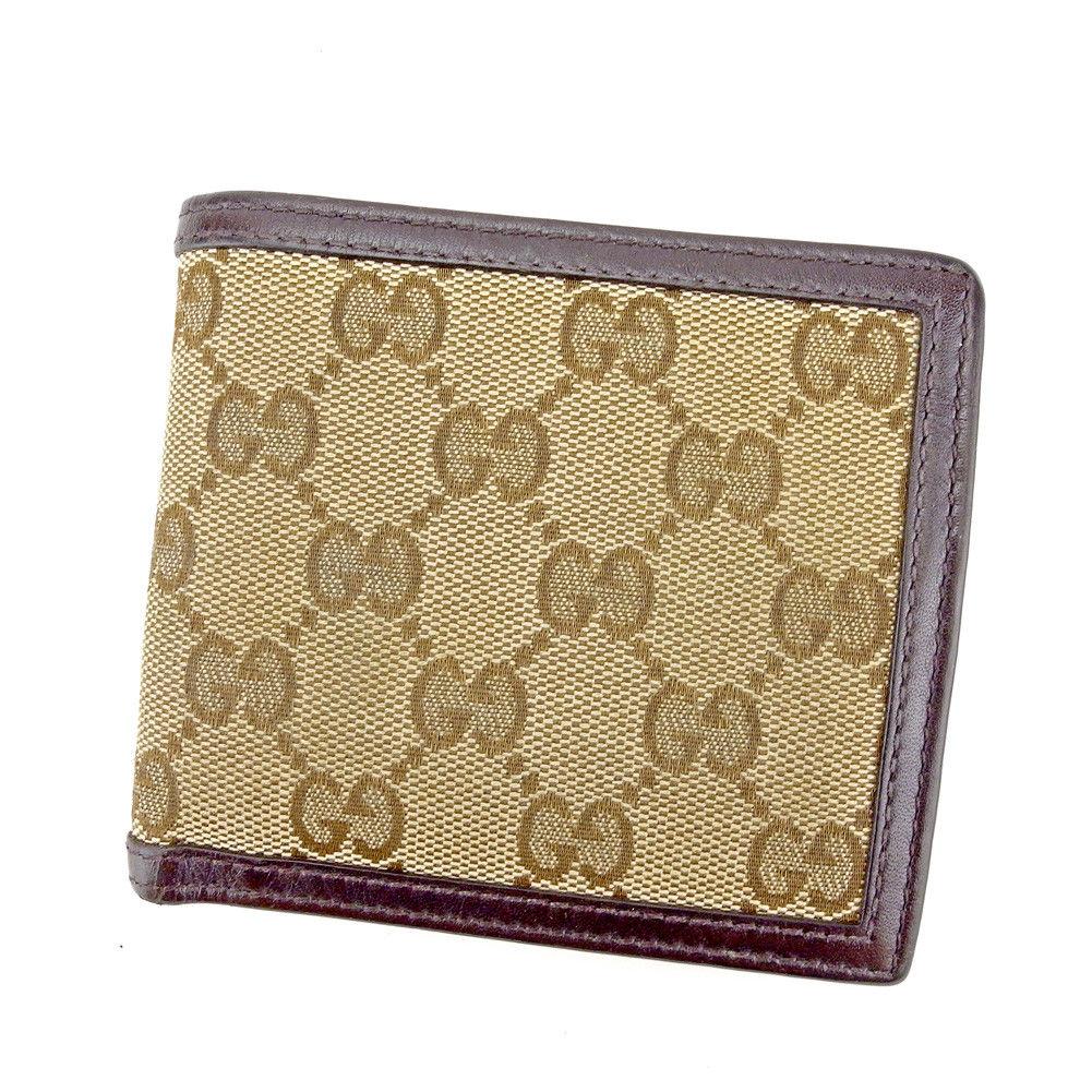 c6095242329e T11149 【中古】 人気 良品 グッチ 二つ折り財布 財布 レディース GG柄 メンズ可【中古】 カルティエ 財布 限定品