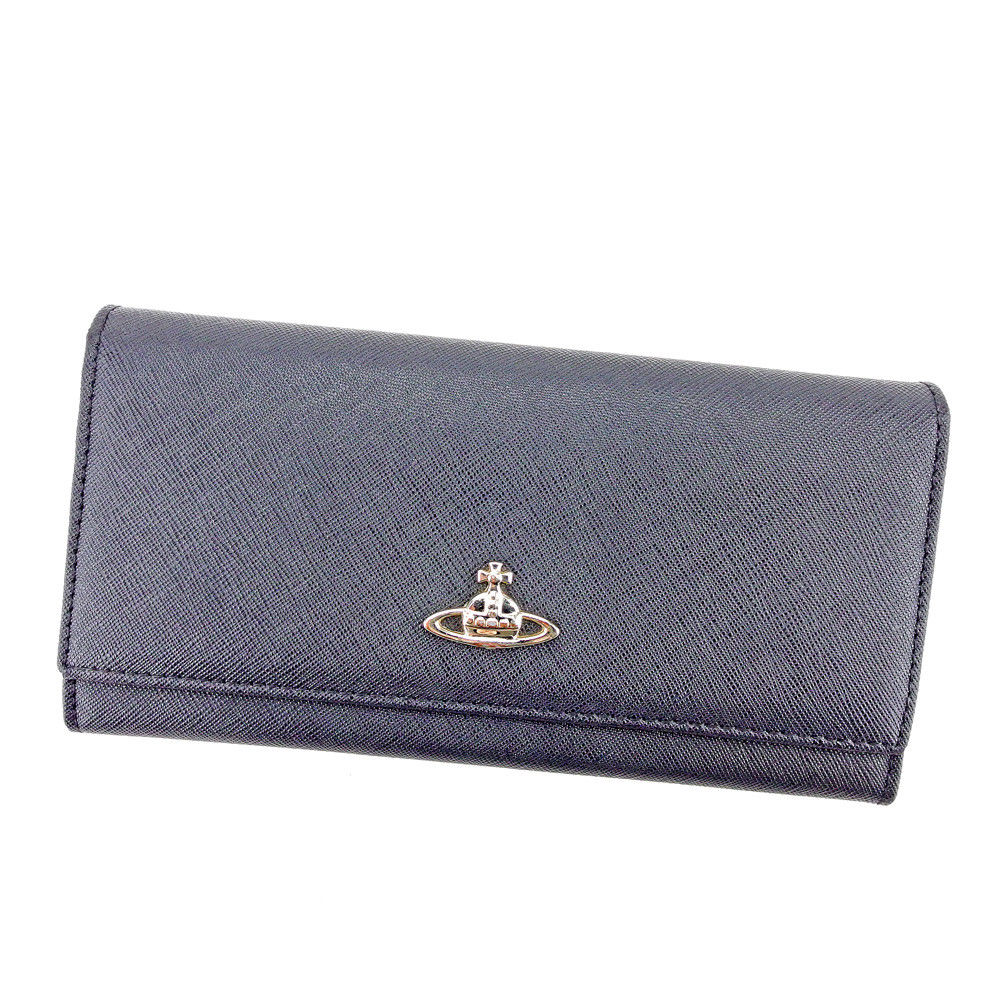 5817e137d4f5 【中古】 ヴィヴィアン ウエストウッド Vivienne Westwood 長財布 ファスナー付き 財布 レディース メンズ 可