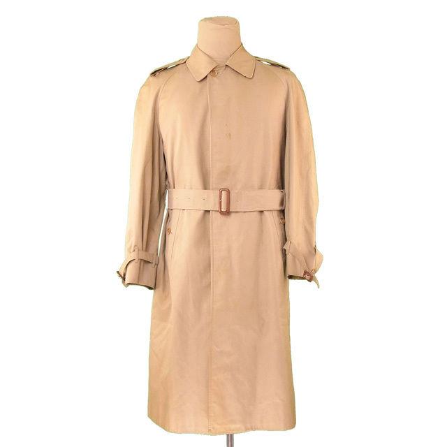 【中古】 バーバリー コート シングル ロング Burberry ベージュ T1027s