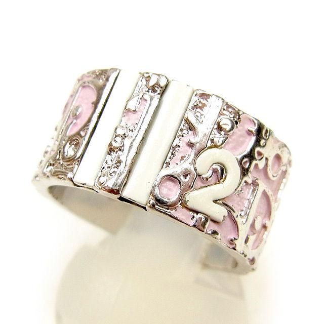 【ニューイヤーセール】 【20%オフ】 【中古】 ディオール Dior 指輪 リング レディース ヴィンテージ シルバー×ピンク×ホワイト T1033