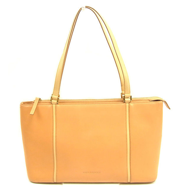 03bd01e2b78e Burberry BURBERRY tote bag one shoulder bag lady beige leather popularity  sale T1060