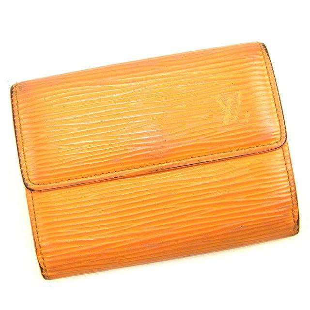 【中古】 ルイヴィトン LOUIS VUITTON コインケース レディース メンズ 可 ラドロー エピ マンダリン(オレンジ) PVC×レザ- 人気 T1122