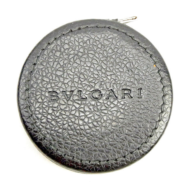 【中古】 ブルガリ BVLGARI メジャー スケール レディース メンズ 可 ブラック レザー T1175