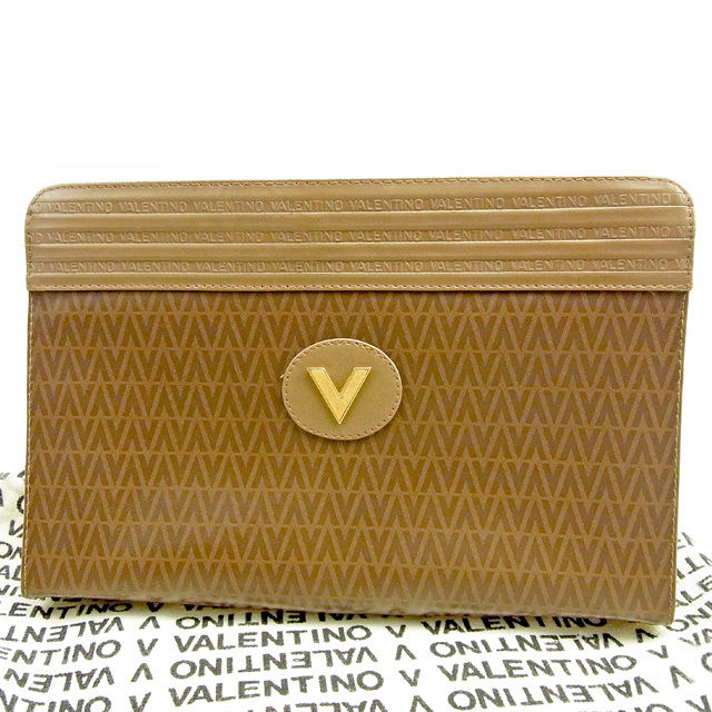 690ed5344f Mario Valentino MARIO VALENTINO clutch bag second bag lady's men's possible  brown X gold PVC X leather popularity sale T1222