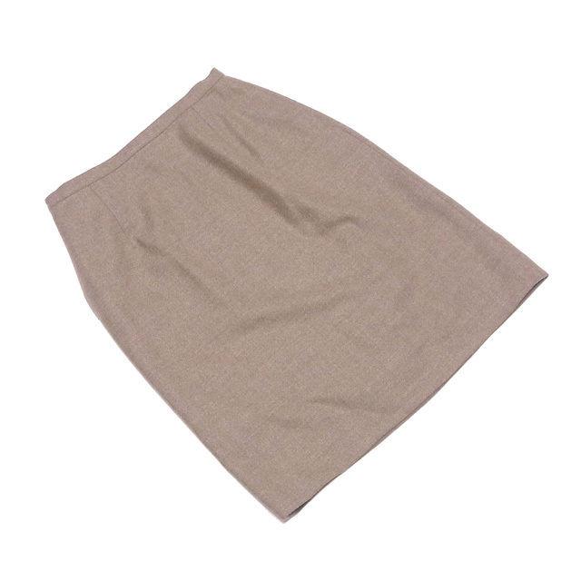 【中古】 ディオール Dior スカート レディース ♯9サイズ ベージュ系 ウール毛90%ナイロン10%(裏地)キュプラ100% T1375