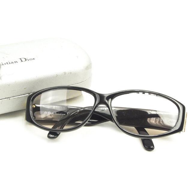 【中古】 ディオール Dior サングラス アイウエア レディース メンズ 可 ゴールド×ブラック T1392