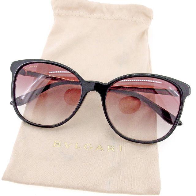 7f599e8af958 Bulgari BVLGARI sunglasses eyeware lady's men's possible logo gold X brown  beauty product sale T1510