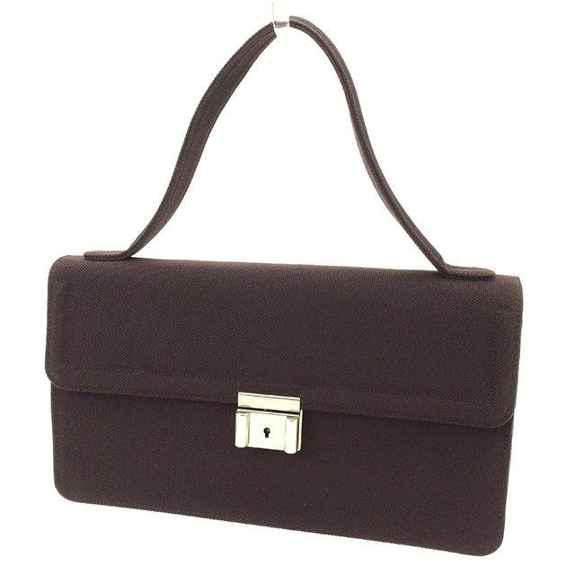 【中古】 アルマーニ ARMANI ハンドバッグ バッグ レディース 展示品未使用 キャンバス 中古 T1604