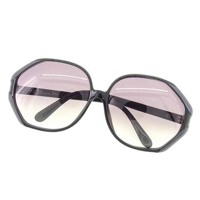 【中古】 ディオール Dior サングラス アイウエア レディース ブラック×グレー 人気 T1657 .