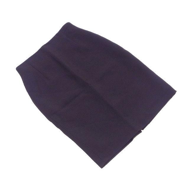 【中古】 フェンディ FENDI スカート タイト レディース ♯USA6サイズ ボーダーライン ダークブラウン C/63%VS/37%(裏地)ACETATO/60%CUPRO/40% 美品 T1735