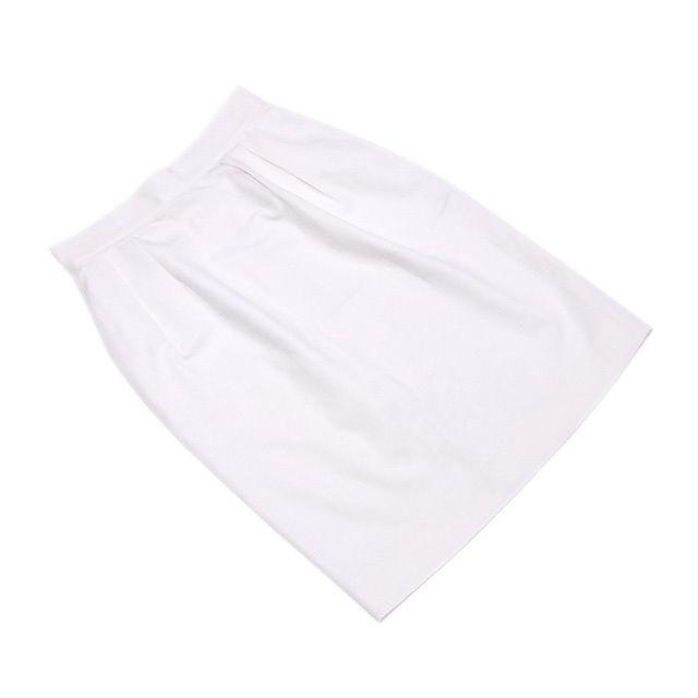 【中古】 ディオール Dior スカート レディース ♯Sサイズ タイト ホワイト コットン綿100%(裏地)ポリエステル100% 良品 T1930