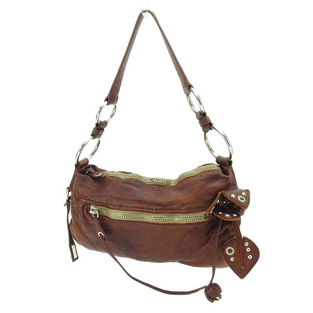 9a0ea7580e5a ミュウミュウ miu miu shoulder bag one shoulder Lady s brown leather popularity  sale T2122.