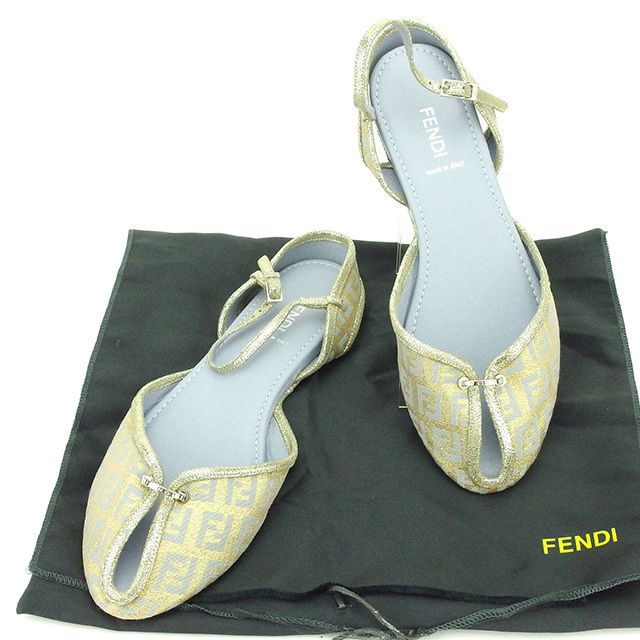 Canvas 12 X T2173 レディースズッキーノゴールド Strap37 Sandals Sale Gray Beauty Fendi Product ZOXliukTwP