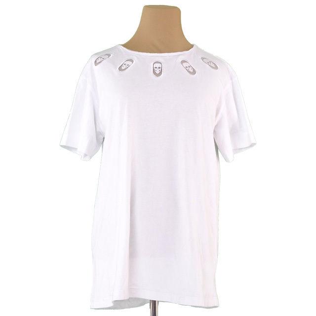【中古】 ジバンシィ GIVENCHY Tシャツ カットソー レディース メンズ 可 ホワイト コットンC 100% T2183 .