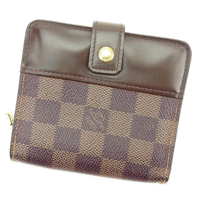 【中古】 ルイ ヴィトン 二つ折り財布 /ラウンドファスナー 財布 Louis Vuitton ブラウン T2354s