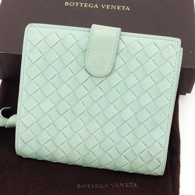 0dabc0d286e9 【中古】 ボッテガ ヴェネタ Bottega Veneta 二つ折り財布 ラウンドファスナー レディース メンズ 可 イントレ