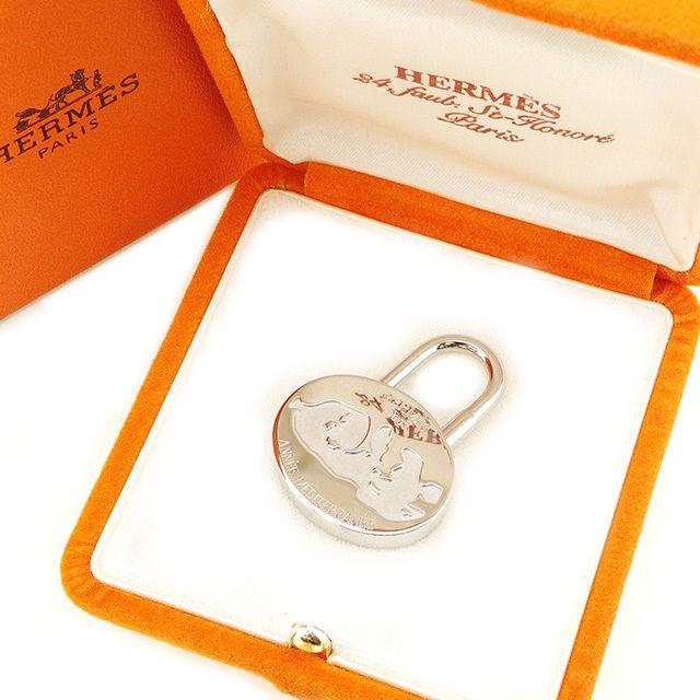 【中古】 エルメス HERMES カデナ パドロック メンズ可 2003年 地中海 シルバー シルバー 美品 セール T2395 .