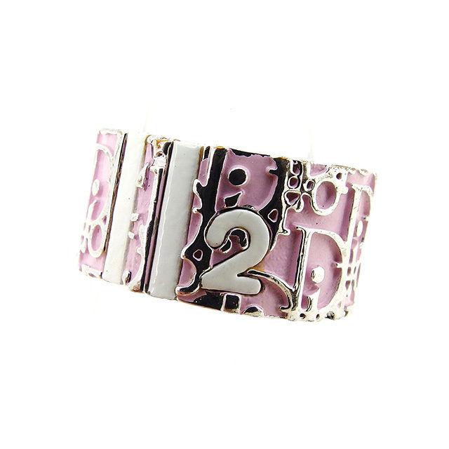 【中古】 ディオール Dior 指輪 リング レディース トロッター ピンク×シルバー シルバー素材 人気 T2433