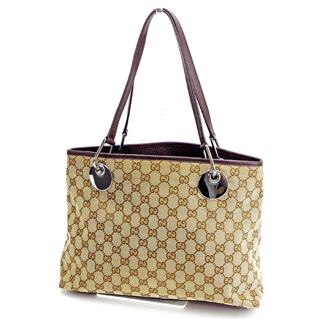 2cba8caf438e00 Gucci Gucci tote bag back Thoth shoulder bag back beige X brown X silver  eclipse GG canvas lady's men's possible T2497s.
