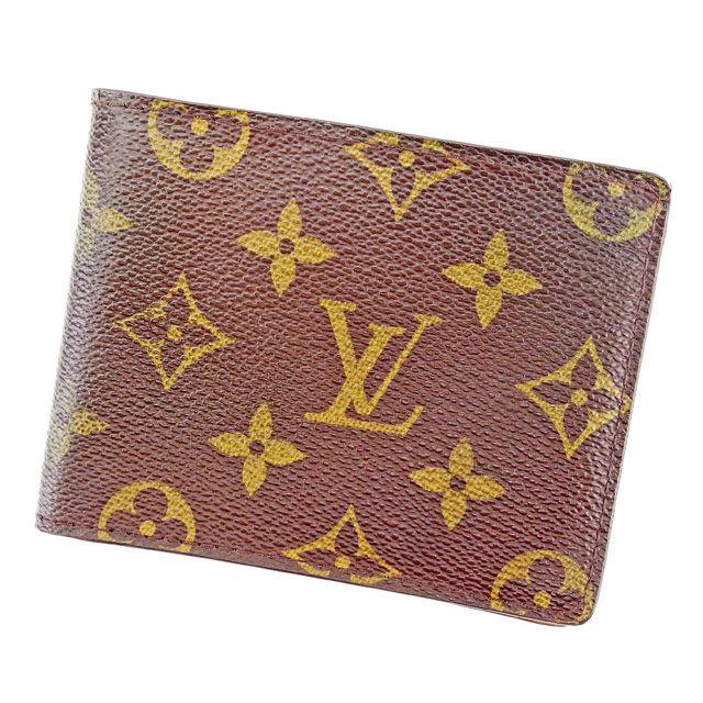 【中古】 ルイ ヴィトン Louis Vuitton 二つ折り札入れ 札入れ メンズ可 ポルトビエ9カルトクレディ ブラウン モノグラムキャンバス T2526 .