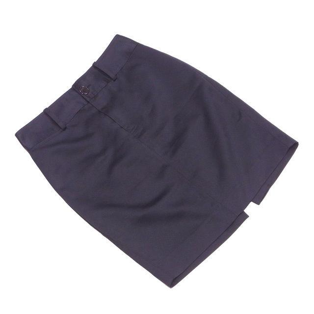 【中古】 マークジェイコブス MARC JACOBS スカート 後スリット入り レディース ♯4サイズ タイト ブラック ポリエステルPL/100% 美品 T2590
