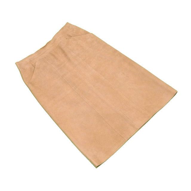 【中古】 シャネル CHANEL スカート レディース ♯36サイズ スエード ベージュ ラムスキン(裏地)シルク100% 良品 T381