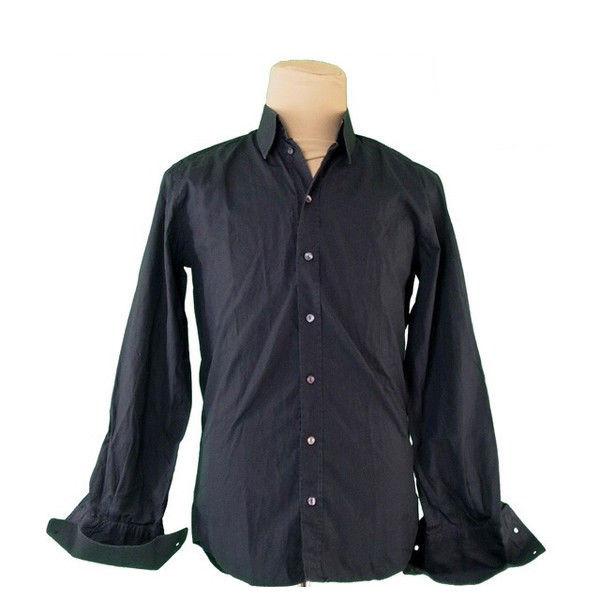 【中古】 ドルチェ&ガッバーナ DOLCE&GABBANA シャツ 長袖 メンズ ブラック Cotton 100% T412 .