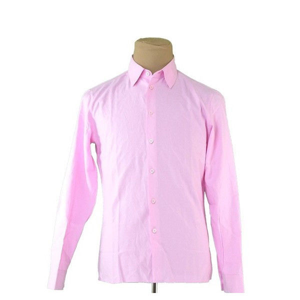 【中古】 ミュウミュウ miu miu シャツ 長袖 メンズ ピンク COTTON 100% T413 .