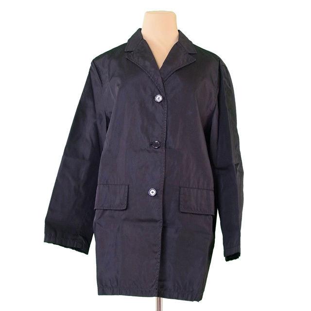 【中古】 プラダ PRADA ジャケット 3つボタン レディース ♯Mサイズ シングルボタン ブラック NYLON/100%(裏地)RAYON/100% 人気 T491 .