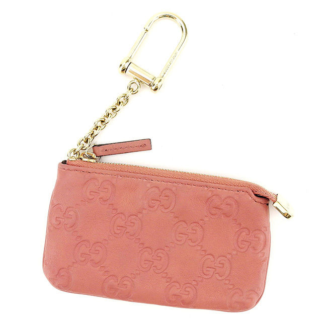 f4c0affcc640 Gucci GUCCI coin case coin purse Lady's key case Gucci sima pink X gold  leather quality goods sale T2972.
