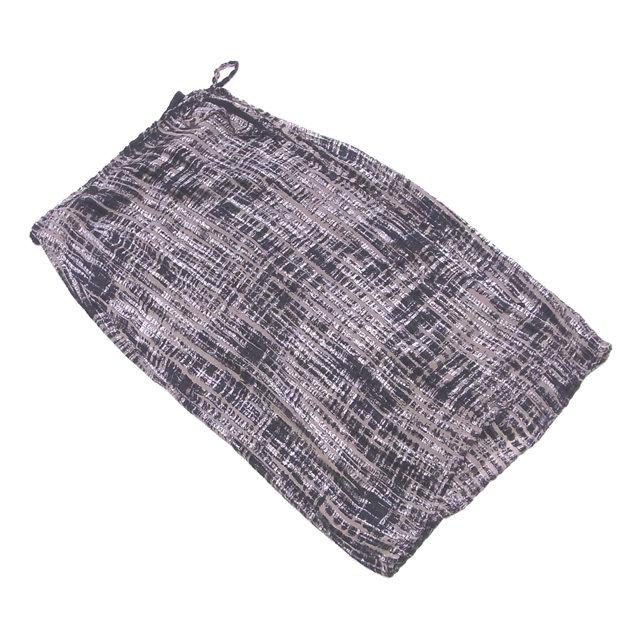 【中古】 マックスマーラ Max Mara スカート ラップスカート 巻きスカート レディース ♯USA6サイズ プリント ベージュ×ブラック VI/65%シルクSILK/35%(裏地)VI/100% 美品 T3102 .