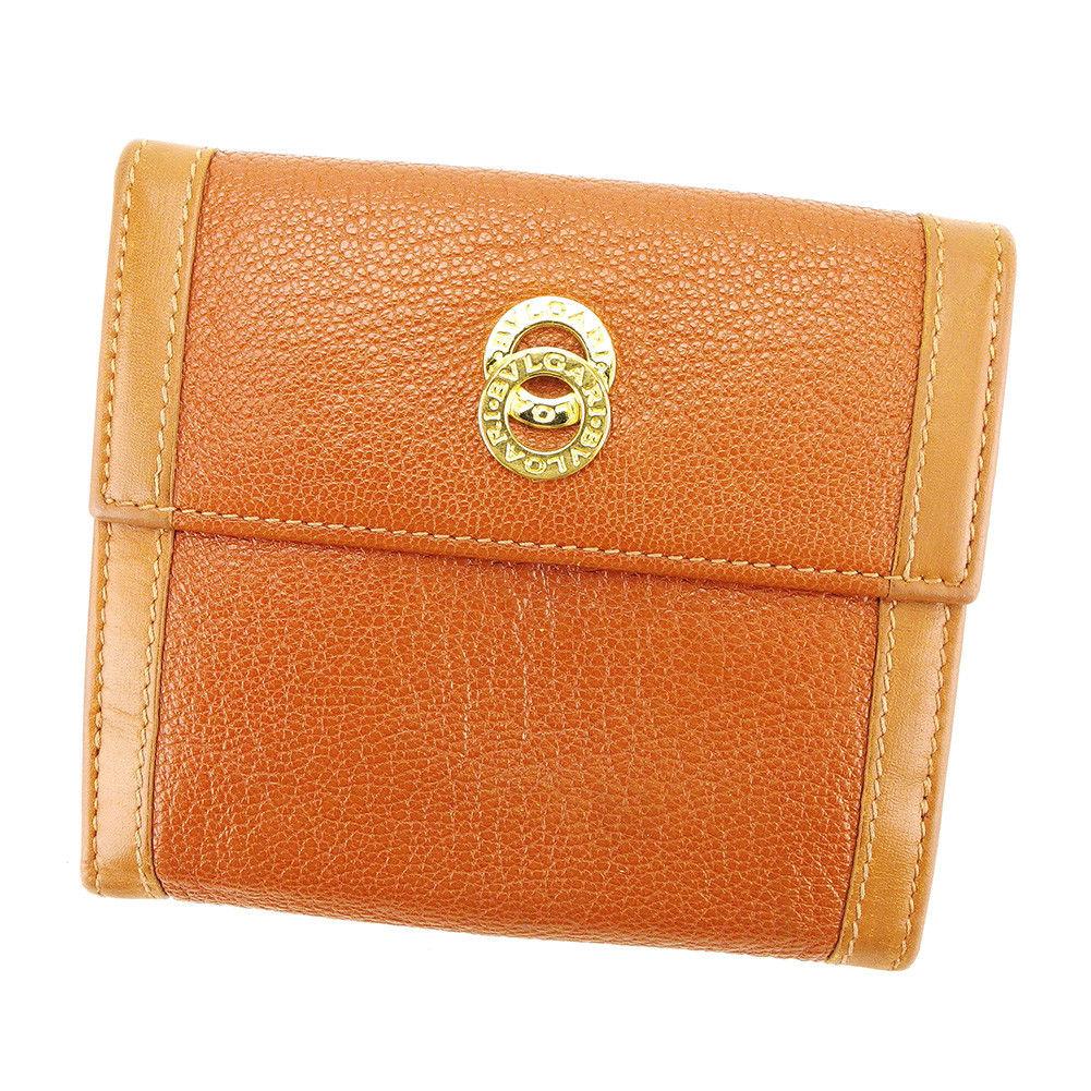 7d94071af19e 【中古】 ブルガリ BVLGARI Wホック 財布 二つ折り 財布 レディース メンズ 可 ドッピオトンド