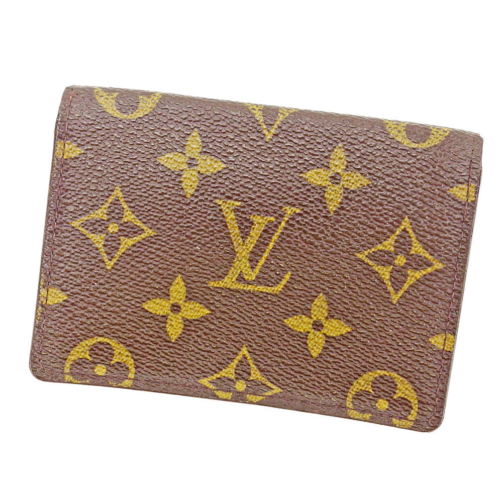 【中古】 ルイ ヴィトン Louis Vuitton 定期入れ パスケース メンズ可 ポルト2カルトヴェルティカル モノグラム ブラウン モノグラムキャンバス 人気 T3625 .