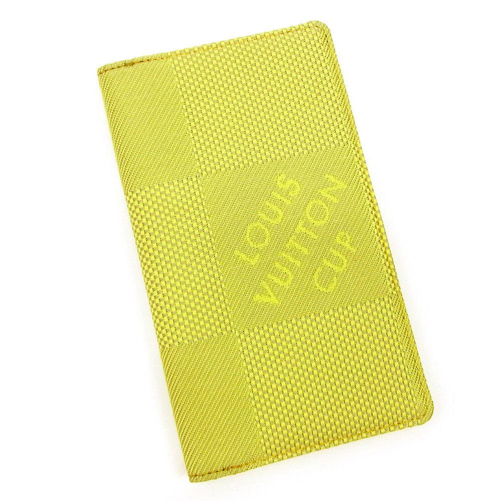 【中古】 ルイ ヴィトン Louis Vuitton 手帳カバー レディース メンズ 可 2003年限定商品 グリーン×ベージュ キャンバス×レザー T3644