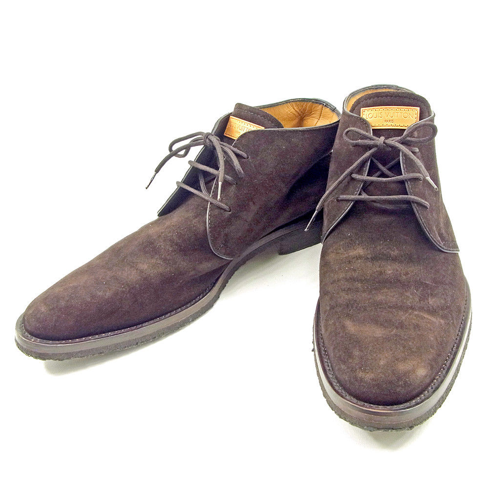 3365ba5469e5 Louis Vuitton Louis Vuitton shoes  8 men brown suede popularity quality  goods T3706