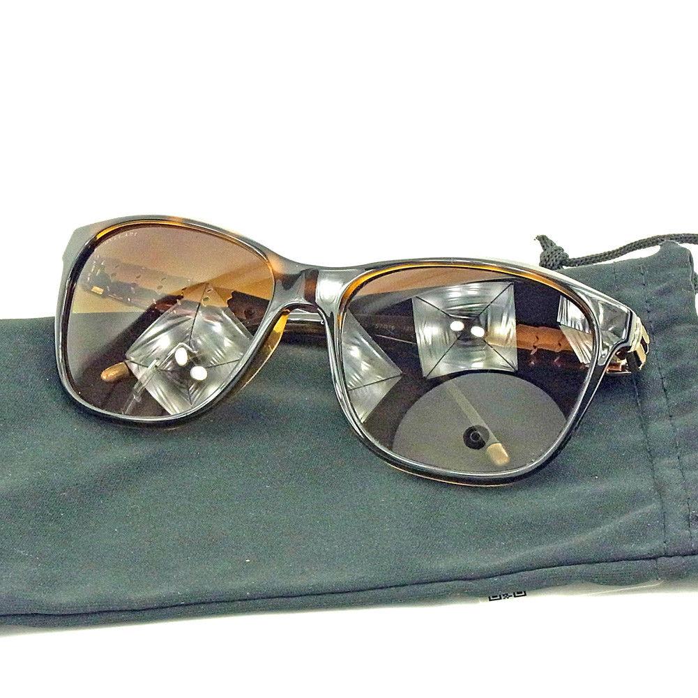 【中古】 ブルガリ BVLGARI サングラス アイウエア レディース メンズ 可 ブラウン×ゴールド 人気 T3711