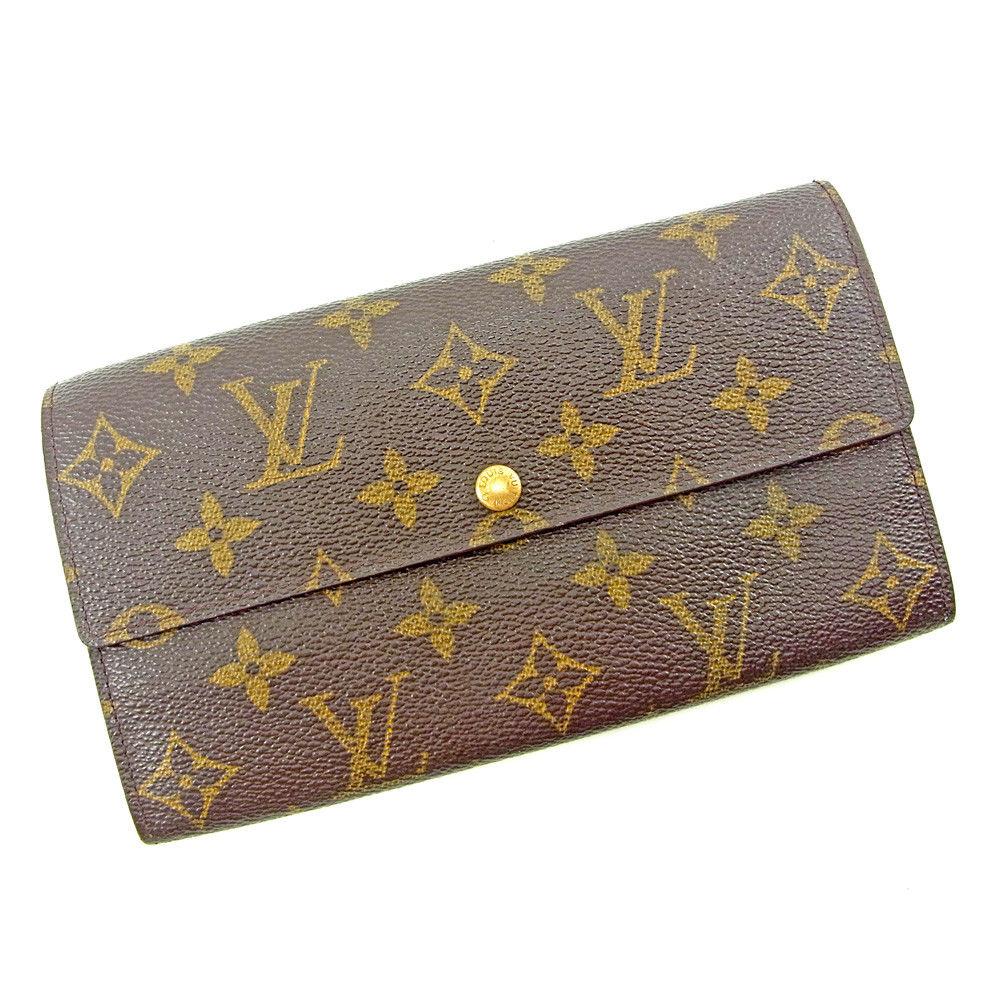【中古】 ルイ ヴィトン 長財布 ファスナー付き長財布 Louis Vuitton ブラウン T3726s
